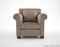 ralph lauren jamaica salon chair 3d model