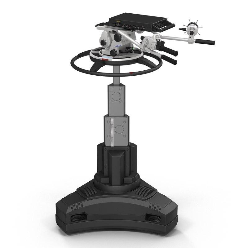 tv studio camera pedestal 3d model