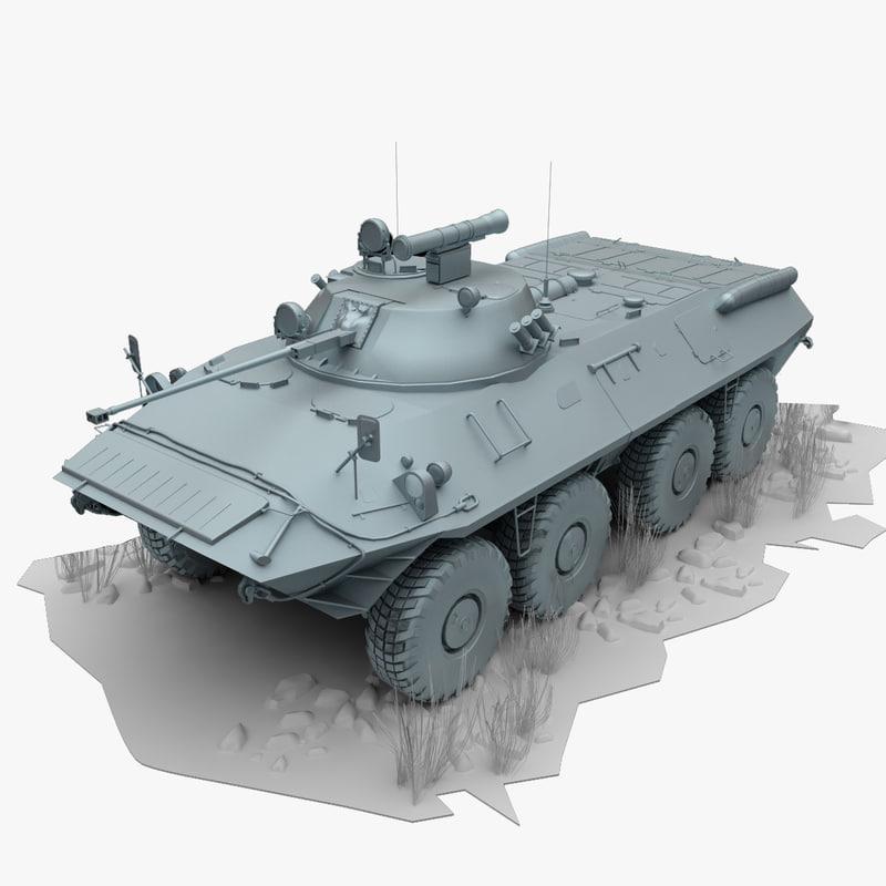 3d max btr 90 btr90 fighting vehicle