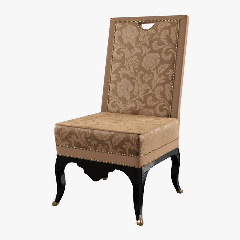 interna champs-elysees bois dining chair 3d max