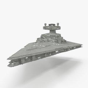 3d star destroyer model