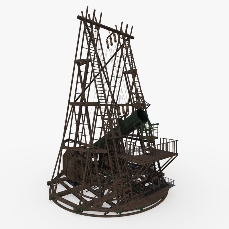 3d model telescope herschel