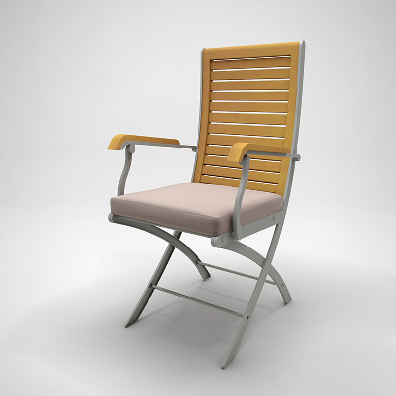 3d lawn chair