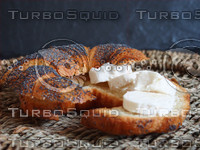 Croissant with cheese