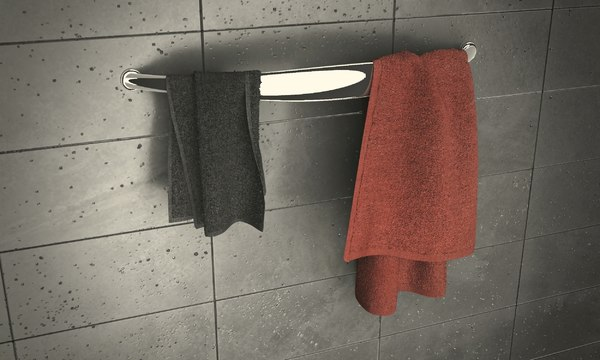 hanger towels 3ds