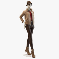 3d model of louis vuitton apparel mannequin