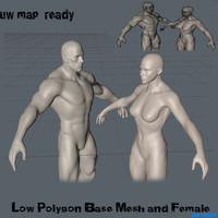 man woman 3d model