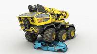 3d max future crane truck sci-fi car