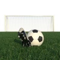 3d realistic football scene