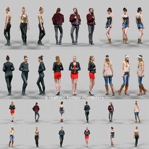 3d scanned female character 6 model