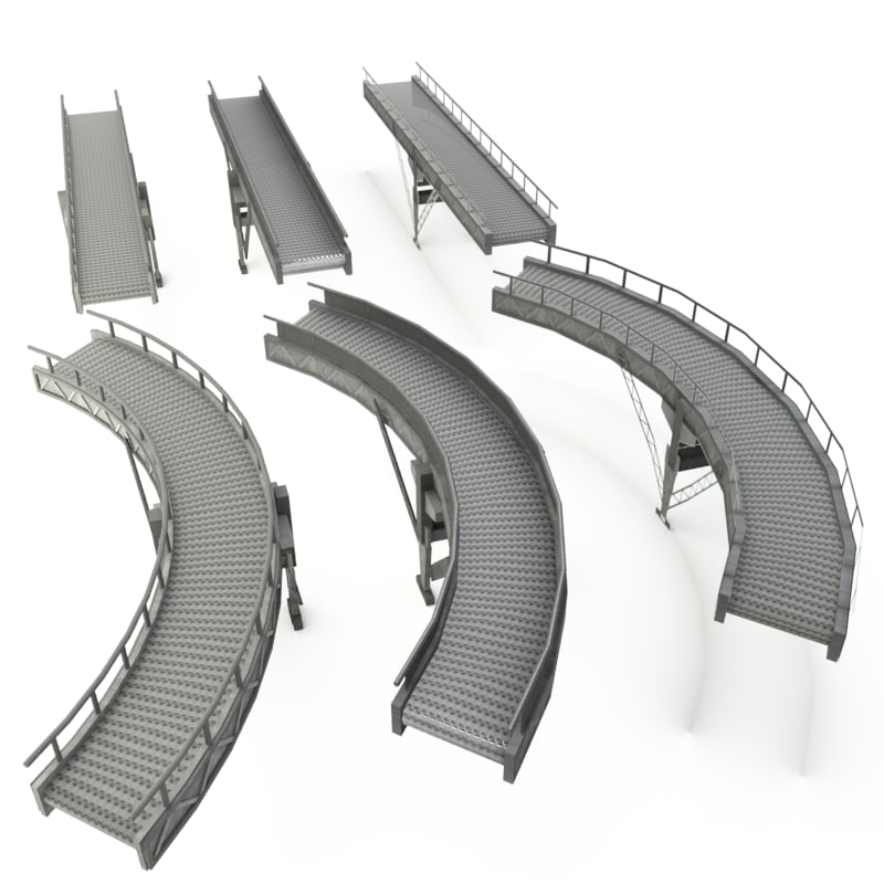 conveyor belt straight curved 3ds