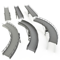 Conveyor Belt LOD - Curved and straight Section