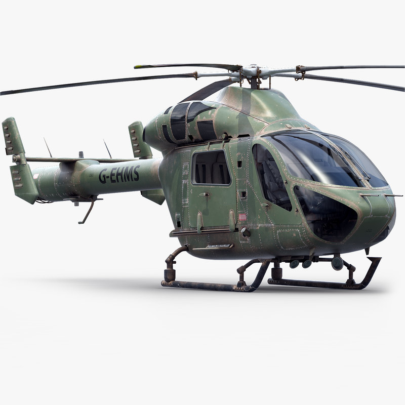 3d model md military aircraft