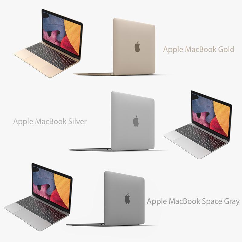 3d apple macbook
