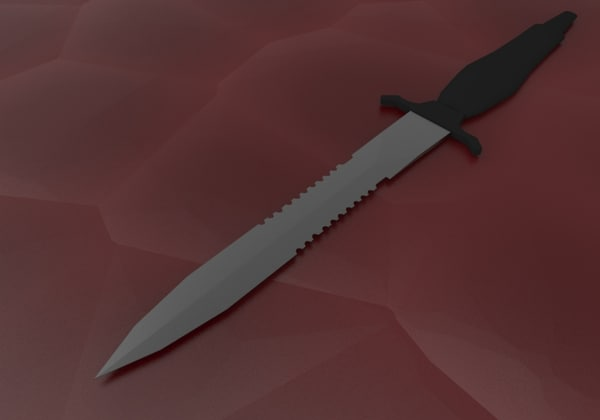 free obj model battle knife