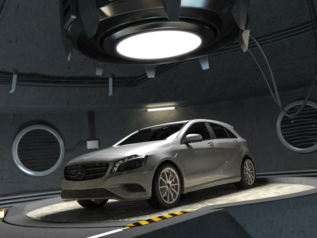 3d model mercedes class w176 garage