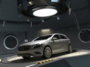 3d model mercedes class w176 garage