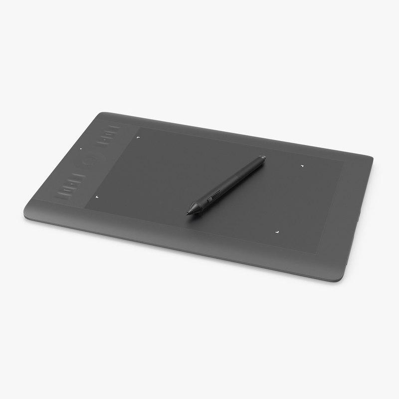 3d digital drawing tablet model