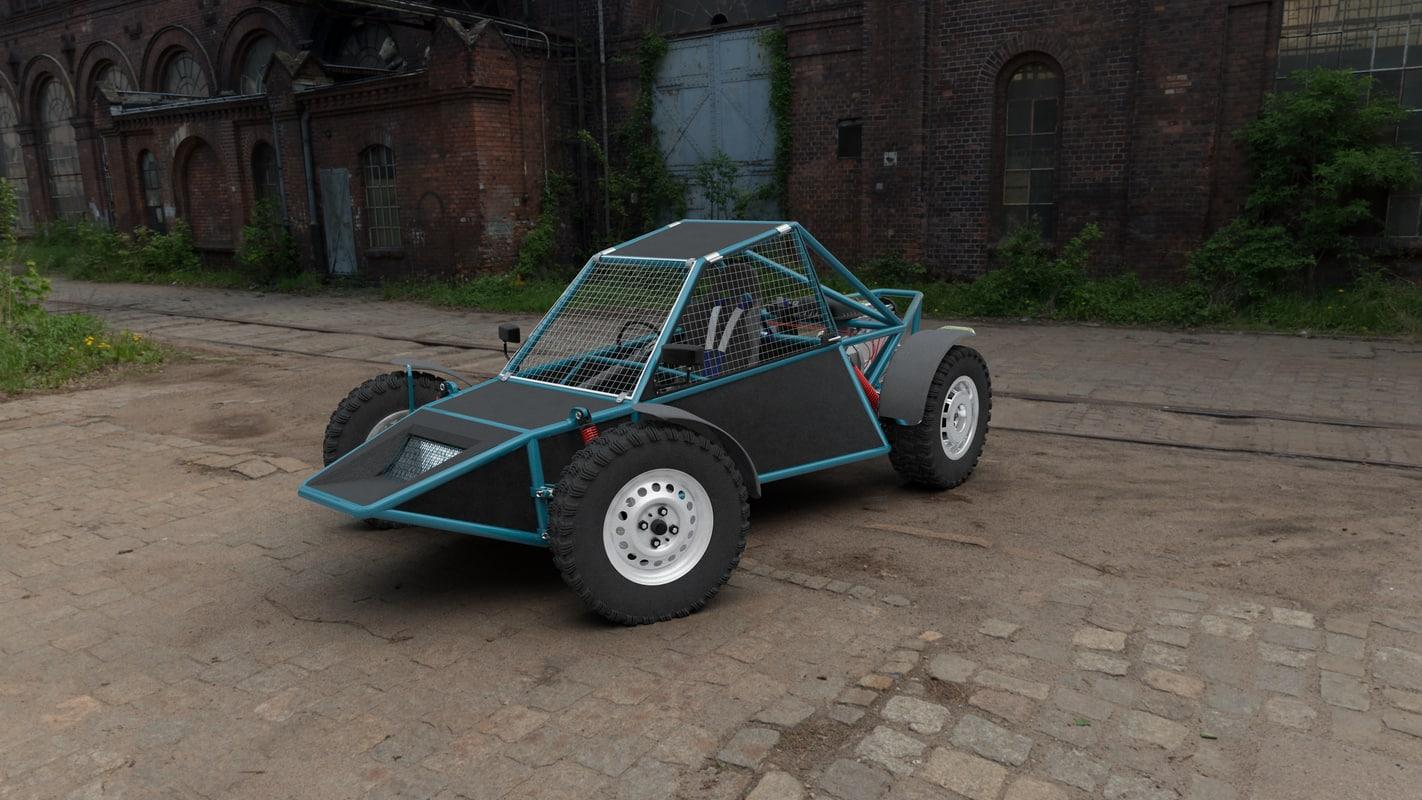 3d buggy cars model