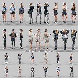 obj scanned female character 6