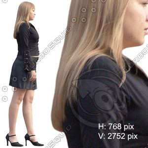 Cut out figure of woman in short skirt (interior light)