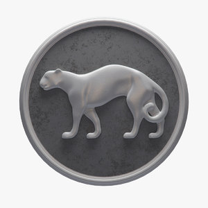 3d model panel panther figure 2