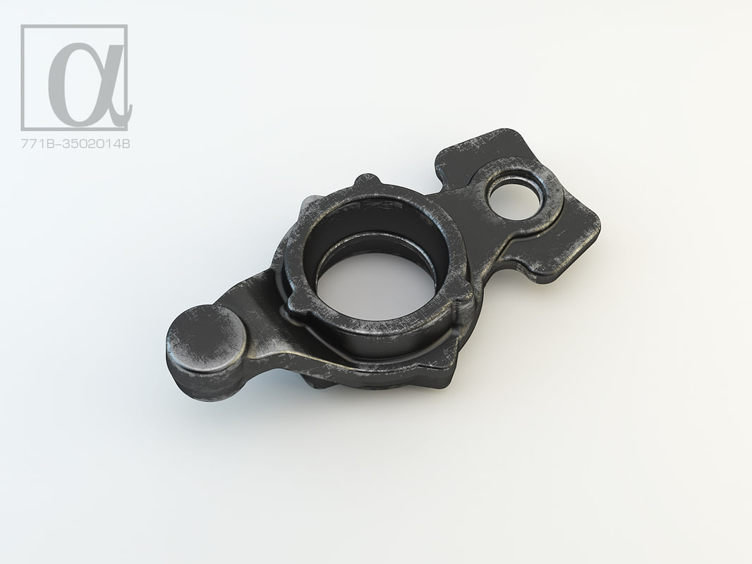 forgings trucks production 3d model
