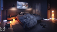 interior bedroom modern design max