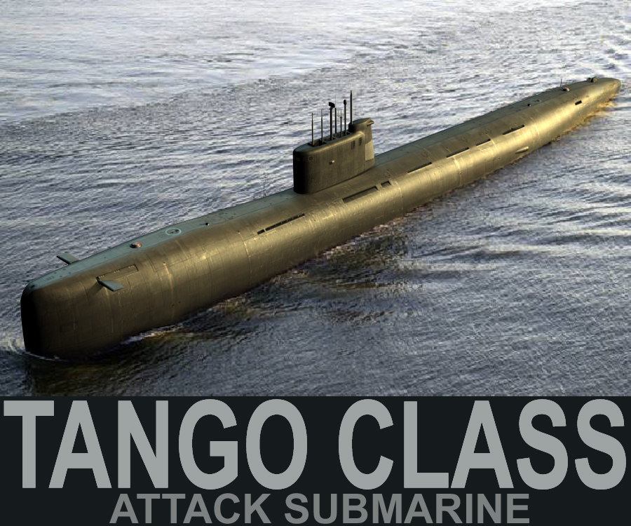3d model tango class attack submarine