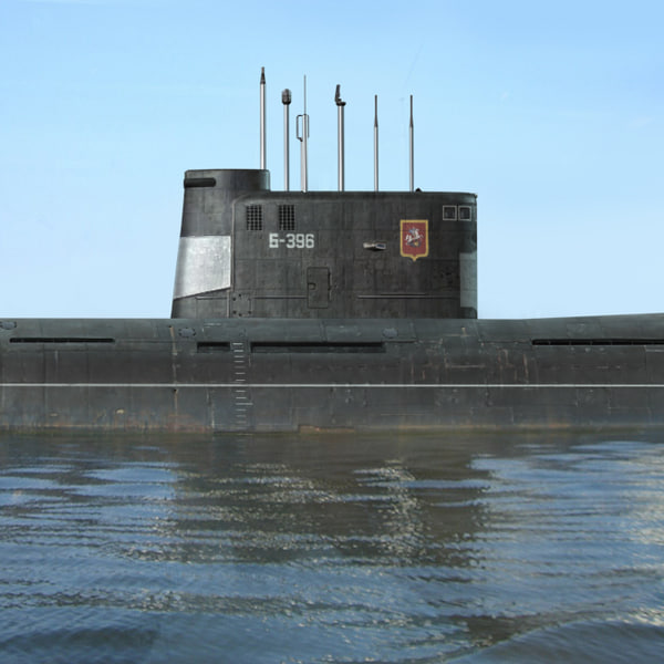 tango class attack submarine 3d model
