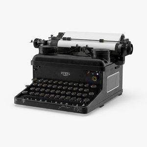 vintage royal typewriter max