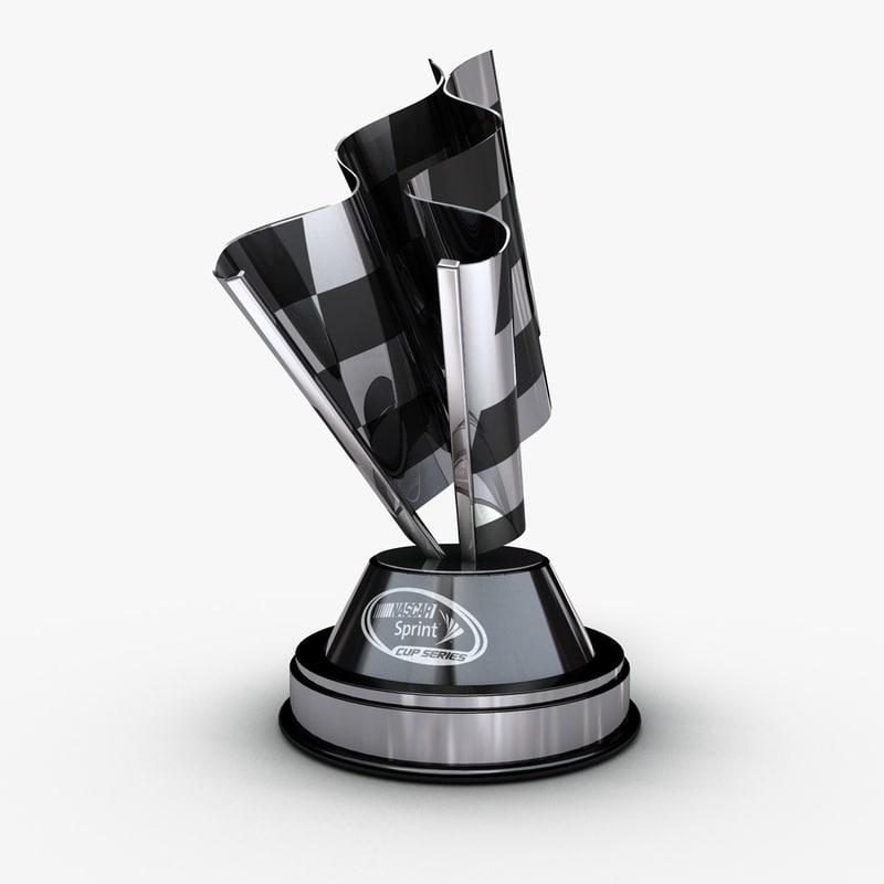 nascar cup trophy 3d model