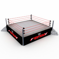 3d wwe wrestling ring