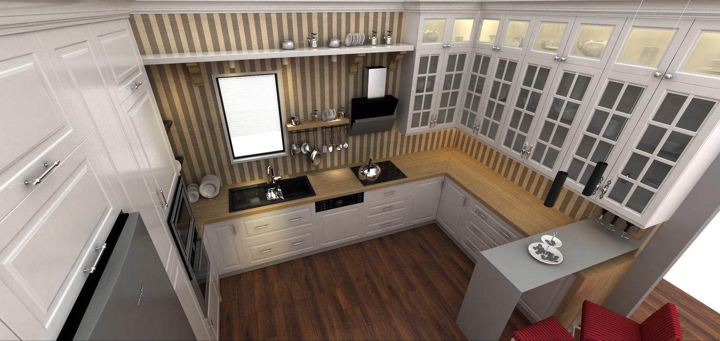 kitchen accessories 3d 3dm