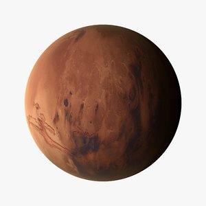 3d model mars planets