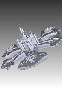 stargate atlantis city 3d model