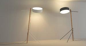 3d excel floor lamp model