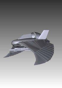 f301 fighter stargate sg1 3d model