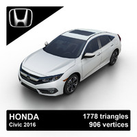 2016 honda civic sedan obj