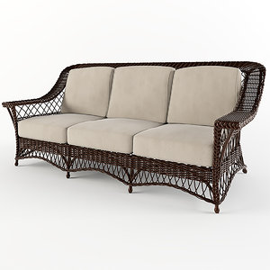 3d wicker sofa