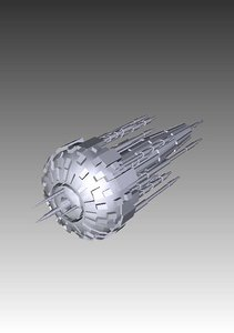 3d replicator s mothership stargate sg1 model
