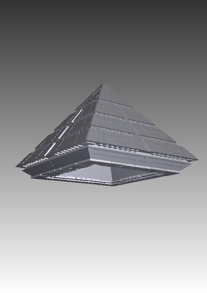 stargate ra spaceship 3d model