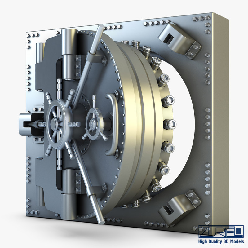 3d bank vault door v model