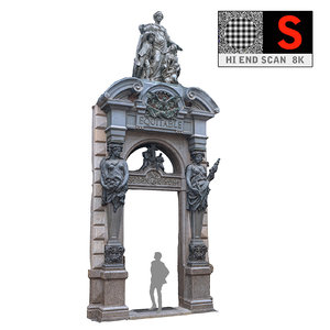 3d vienna city gate 8k