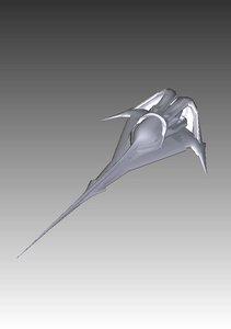 3d model wraith dart fighter stargate
