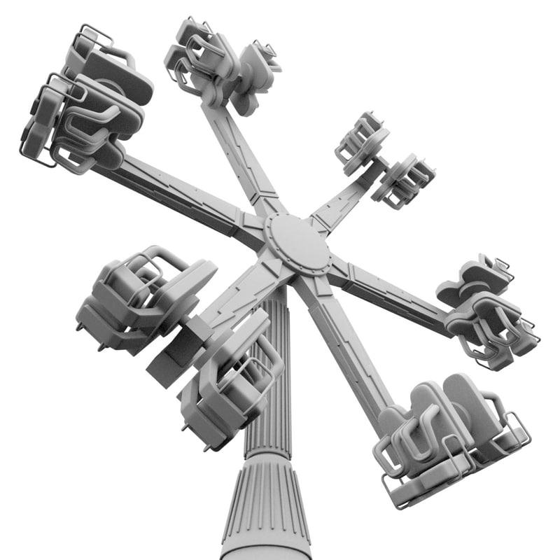 theme park wheel ride 3d model