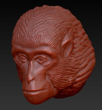 obj monkey head