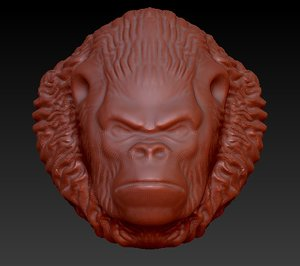 3d gorilla head model