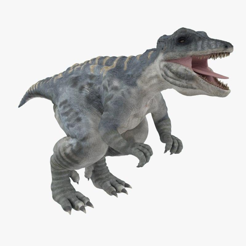 3ds giganotosaurus dinosaur