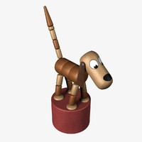 push puppet dog 3d 3ds
